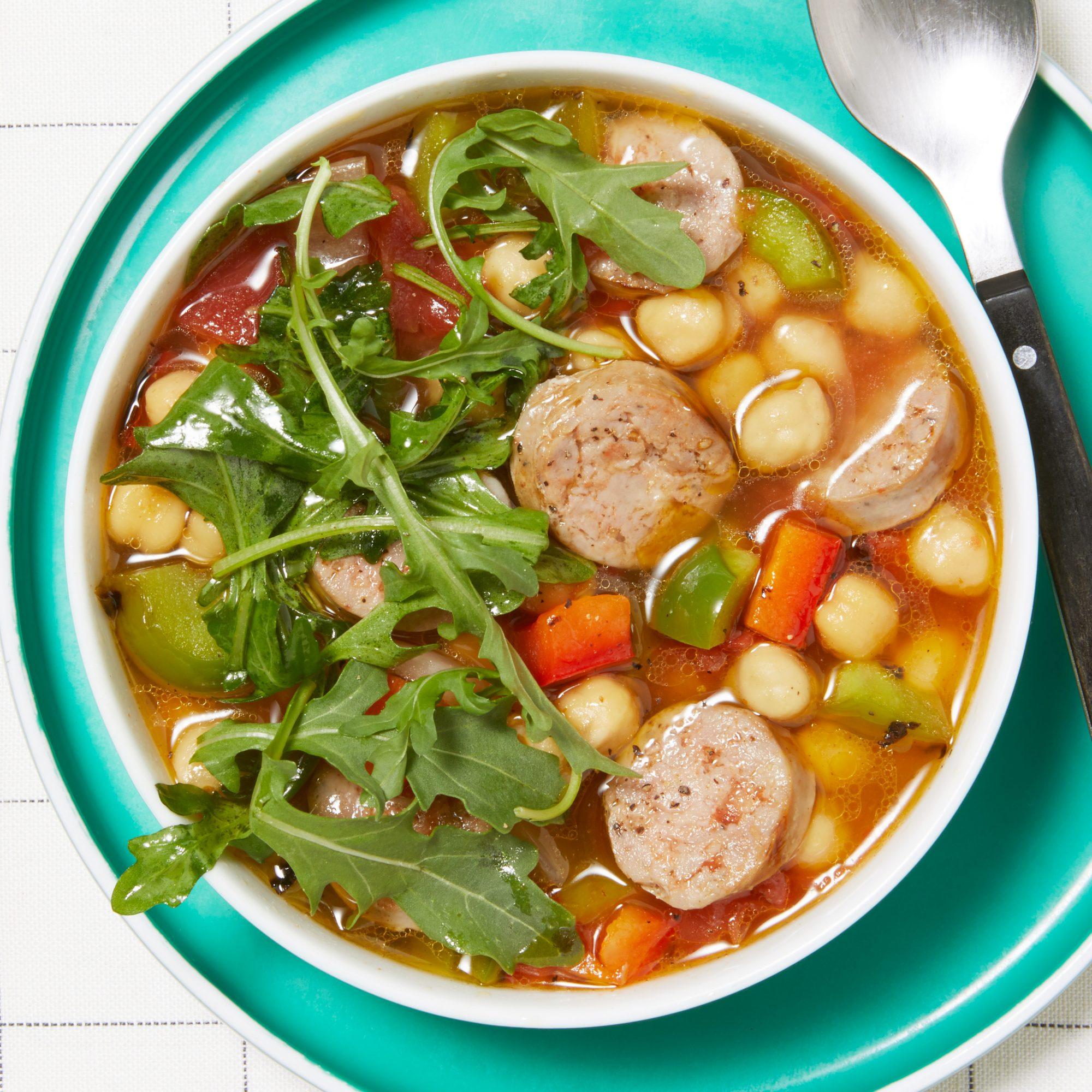 Italian Sausage & Chickpea Soup
