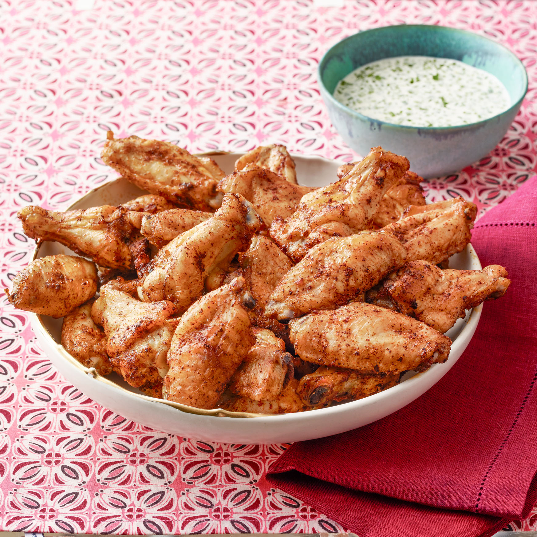 Paprika Wings with Buttermilk Dip