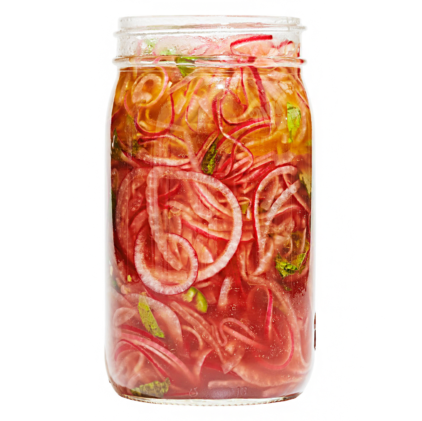 pickled red onions with fresh herbs