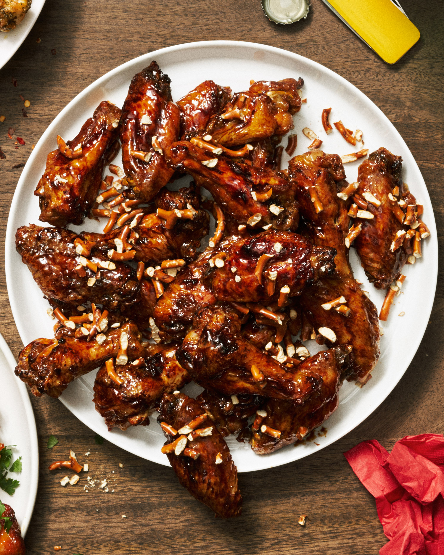 Beer and Pretzels Baked Wings
