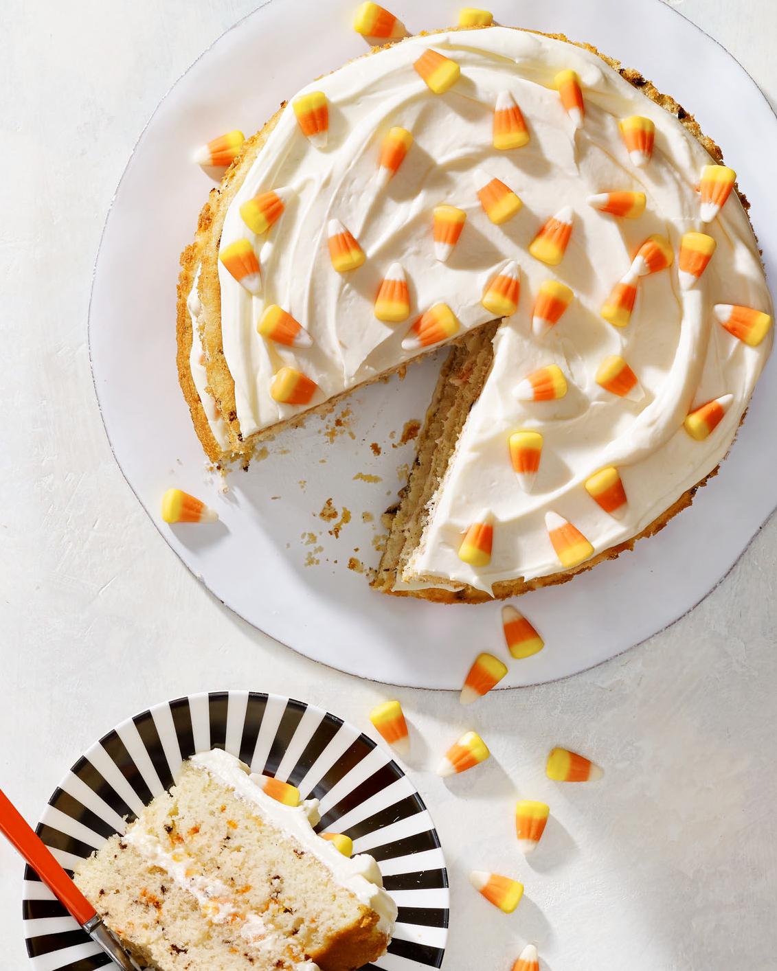 Candy Corn-fettiLayer Cake