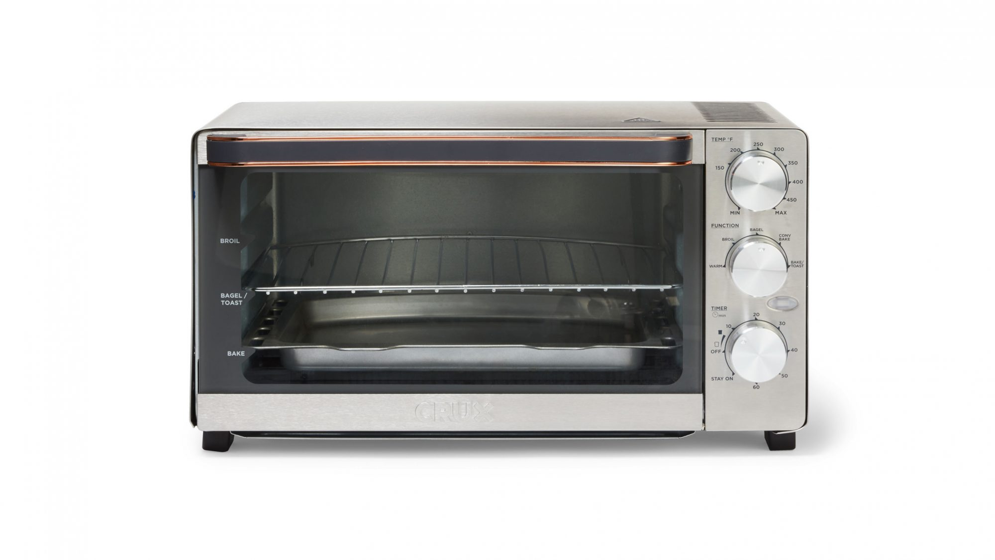crux 6 slice convection toaster oven