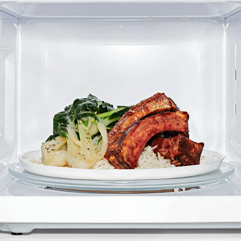 hoisin-glazed spareribs with bok choy