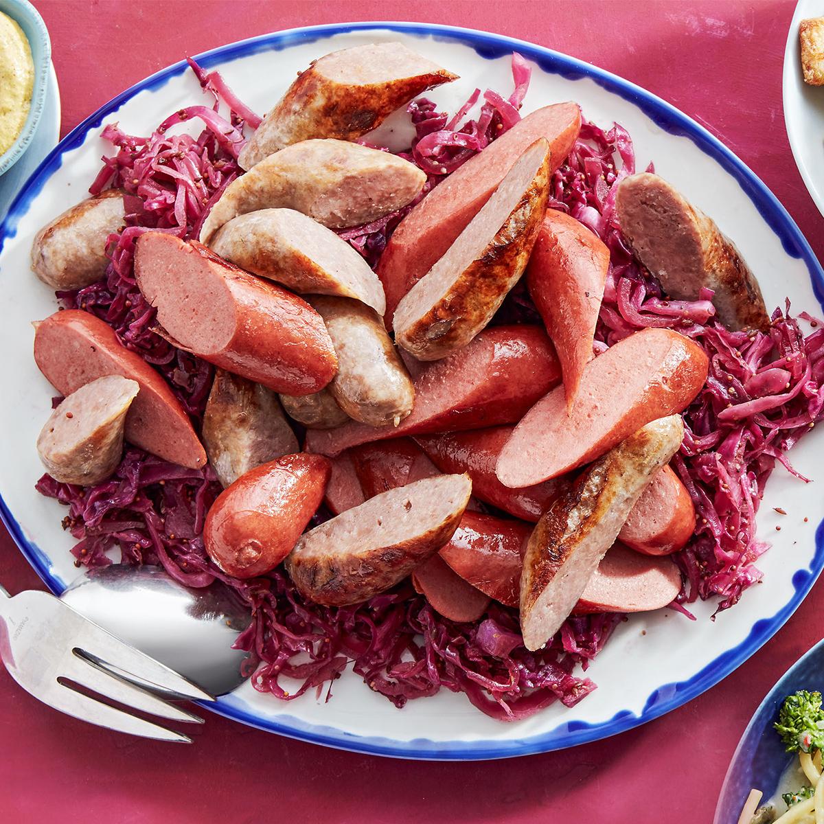 Knocks 'n' Brats & Red Cabbage & Potatoes Rösti