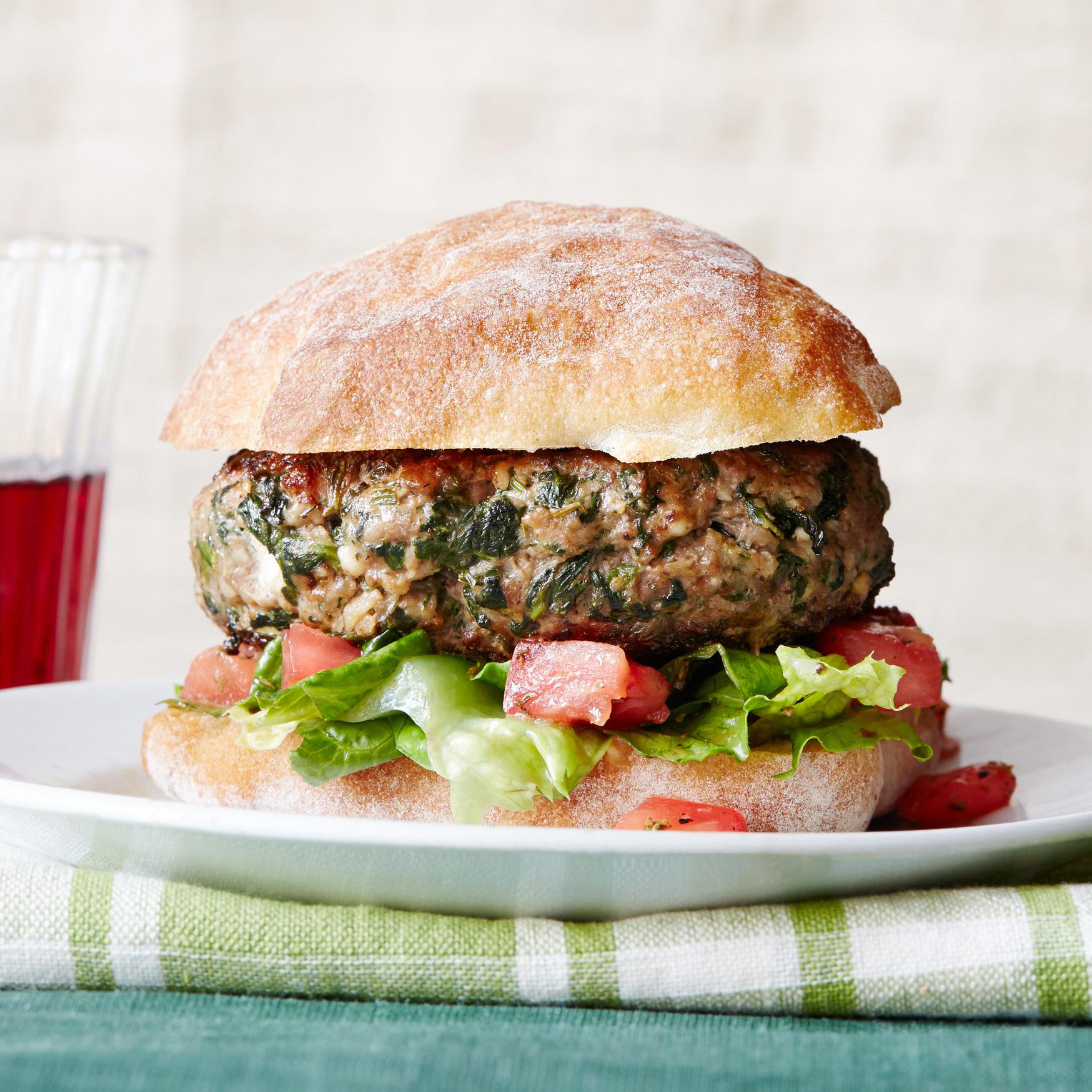 Greek Feta & Spinach Burgers