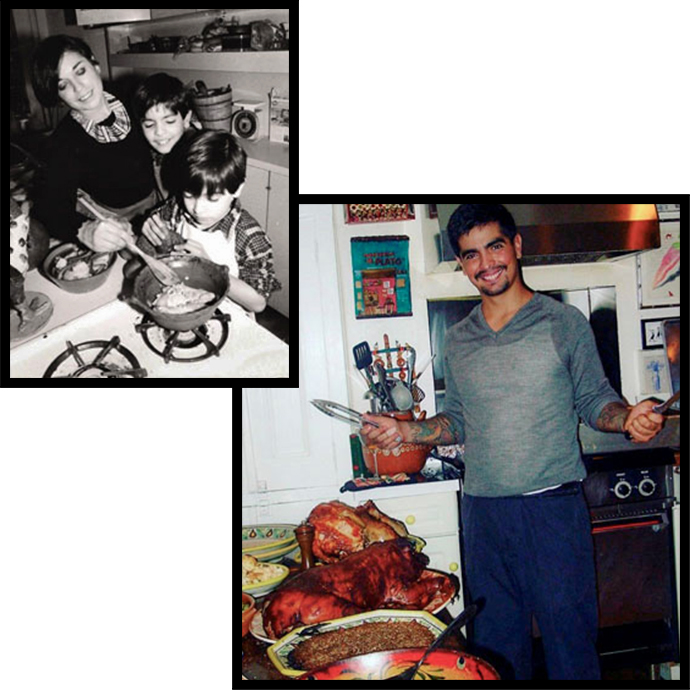 chef aaron sanchez and family