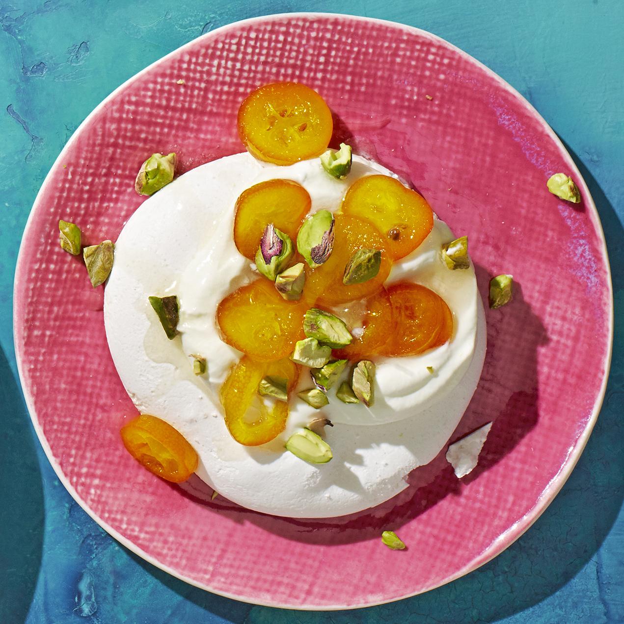 candied kumquat pavlovas