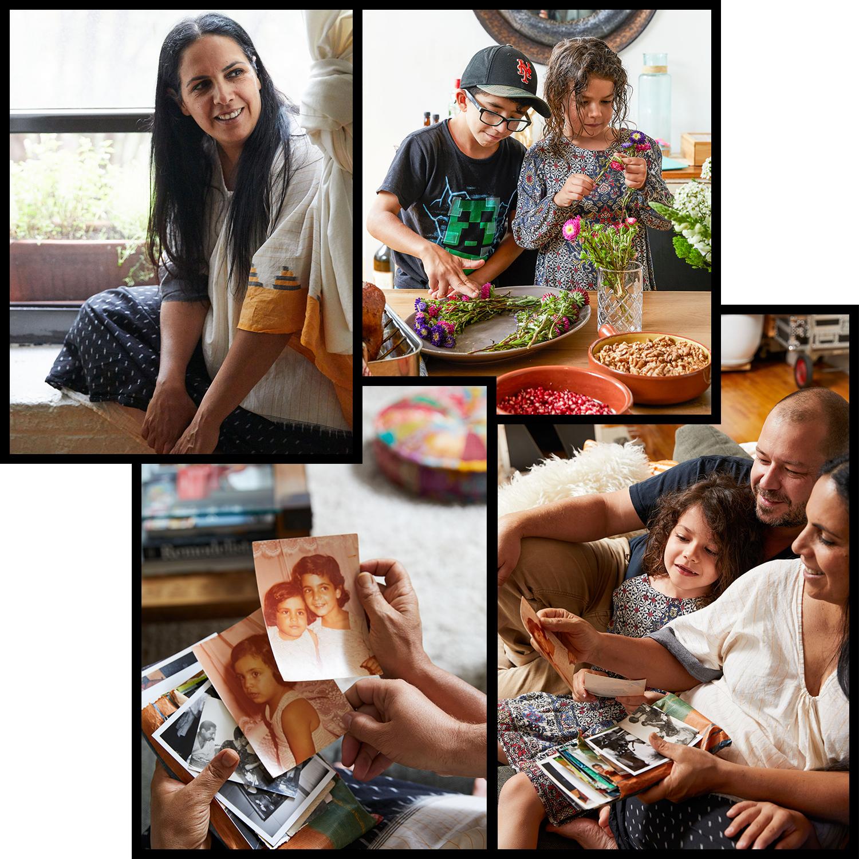 einat admony family collage