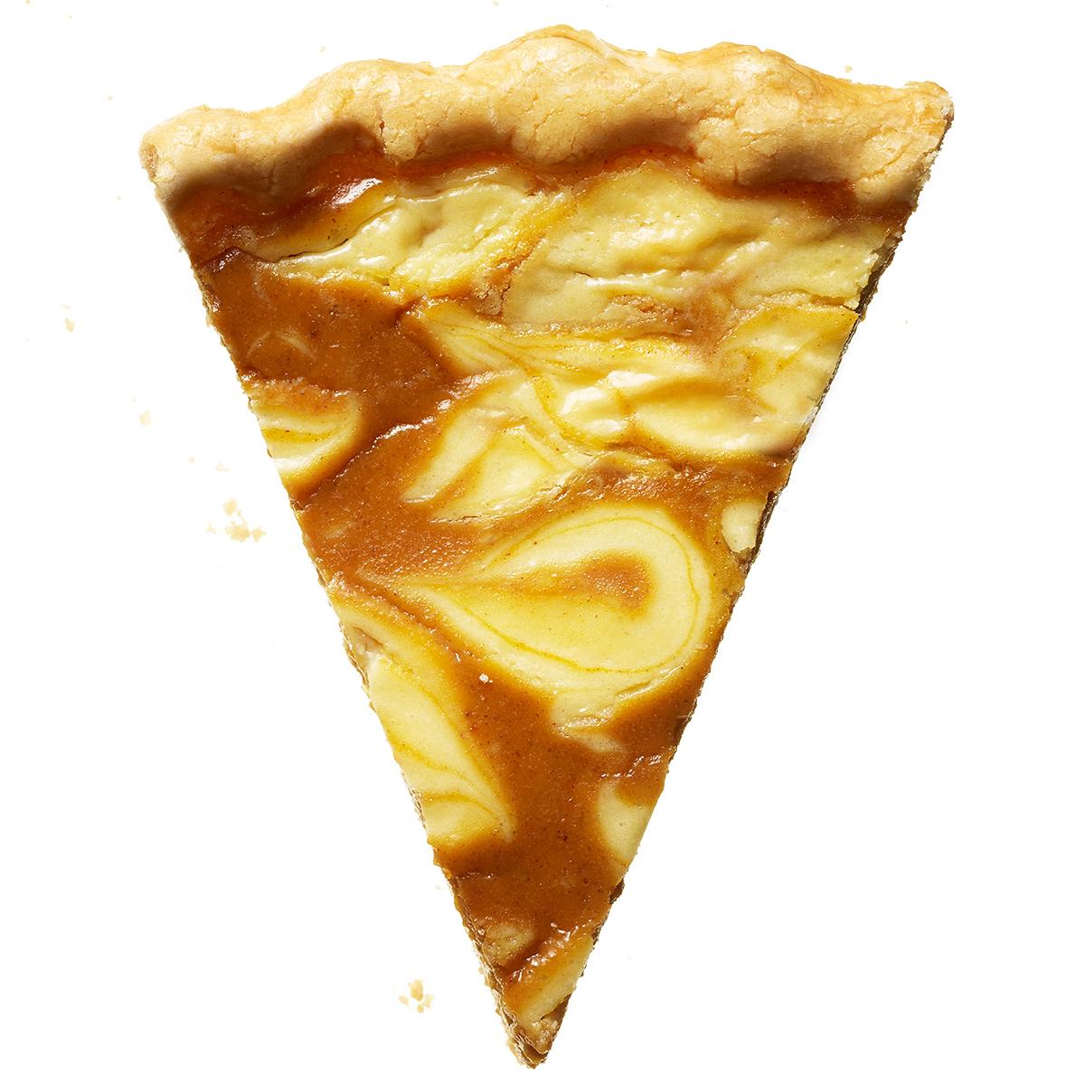 lemon cheesecake swirl pumpkin pie