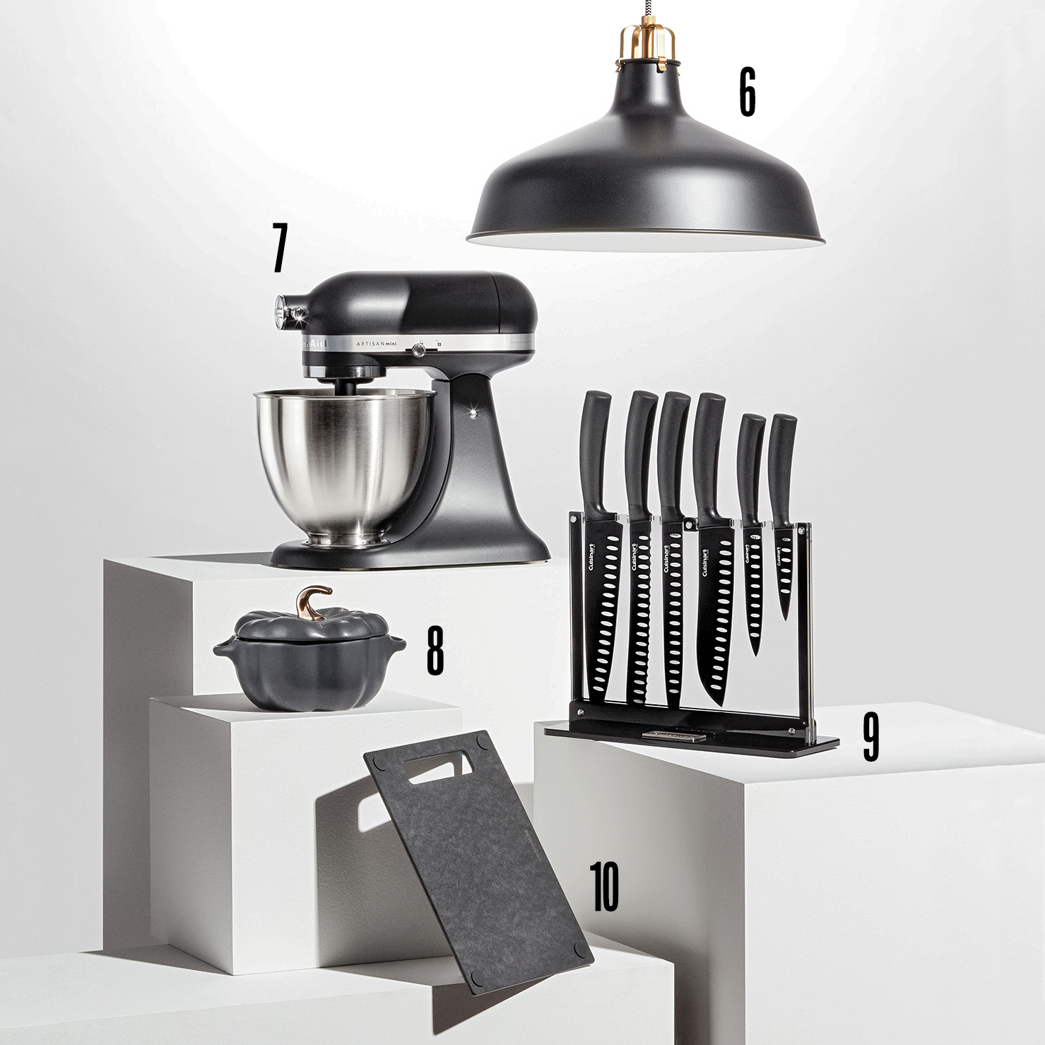 numbered black kitchen products
