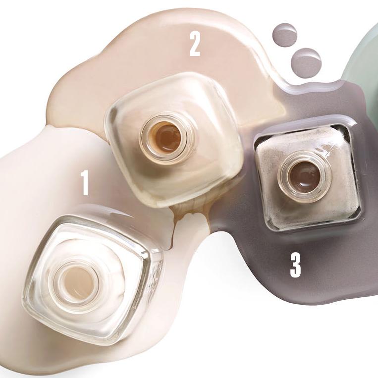 numbered neutral nail polish hues
