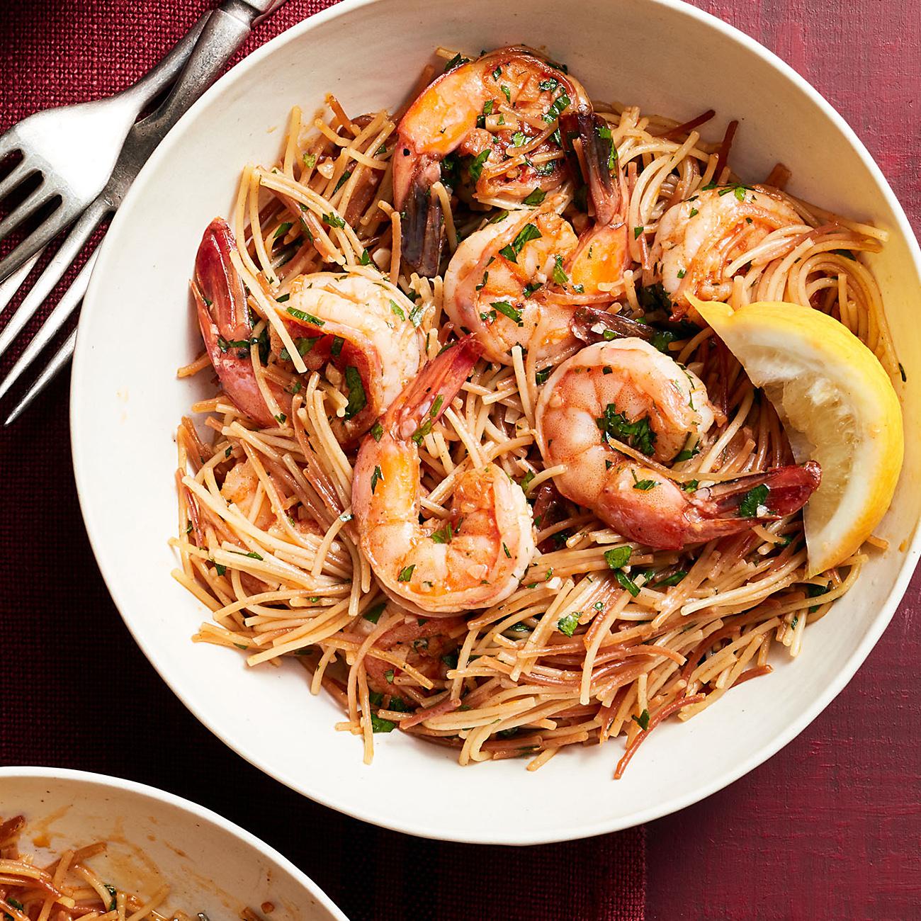 Shrimp Fideos