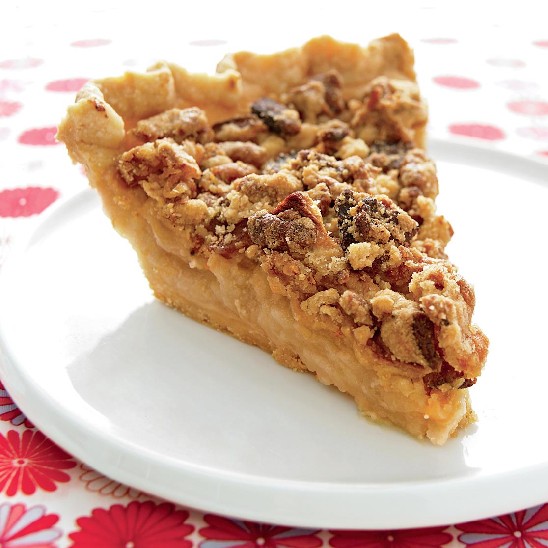 bacon crumble apple pie