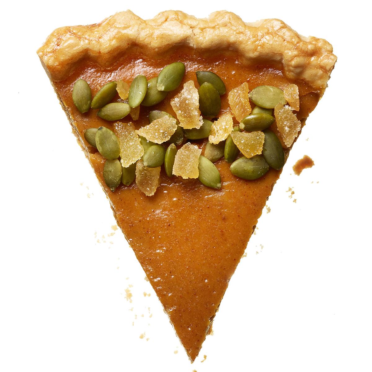 chipotle-ginger crunch pumpkin pie