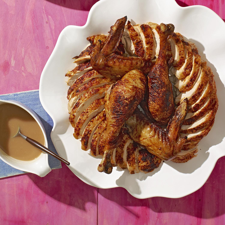 Smoky Turkey with Apple-Cider Gravy