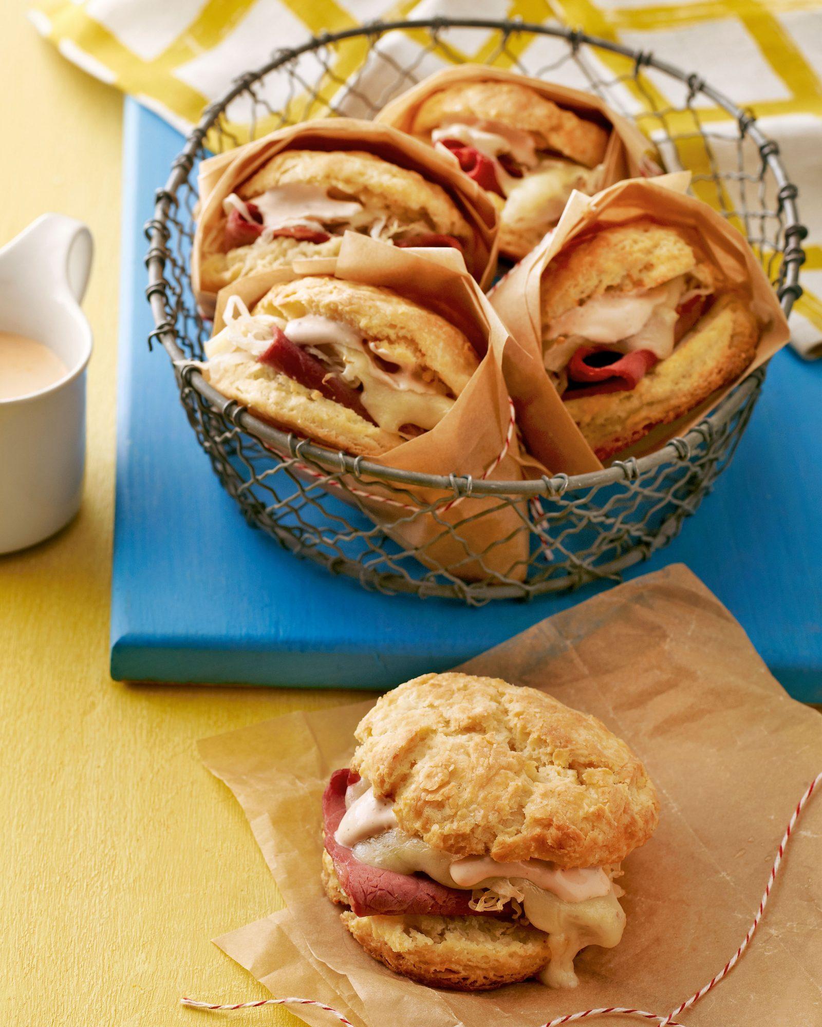 breakfast biscuit reuben