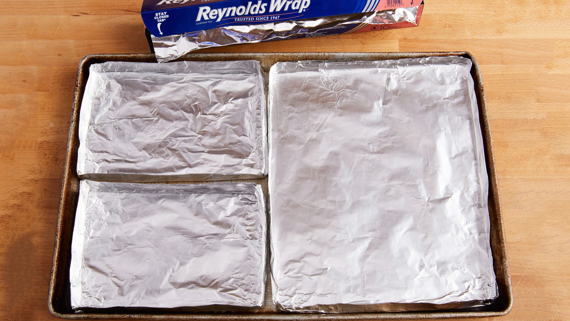 divided foil tray