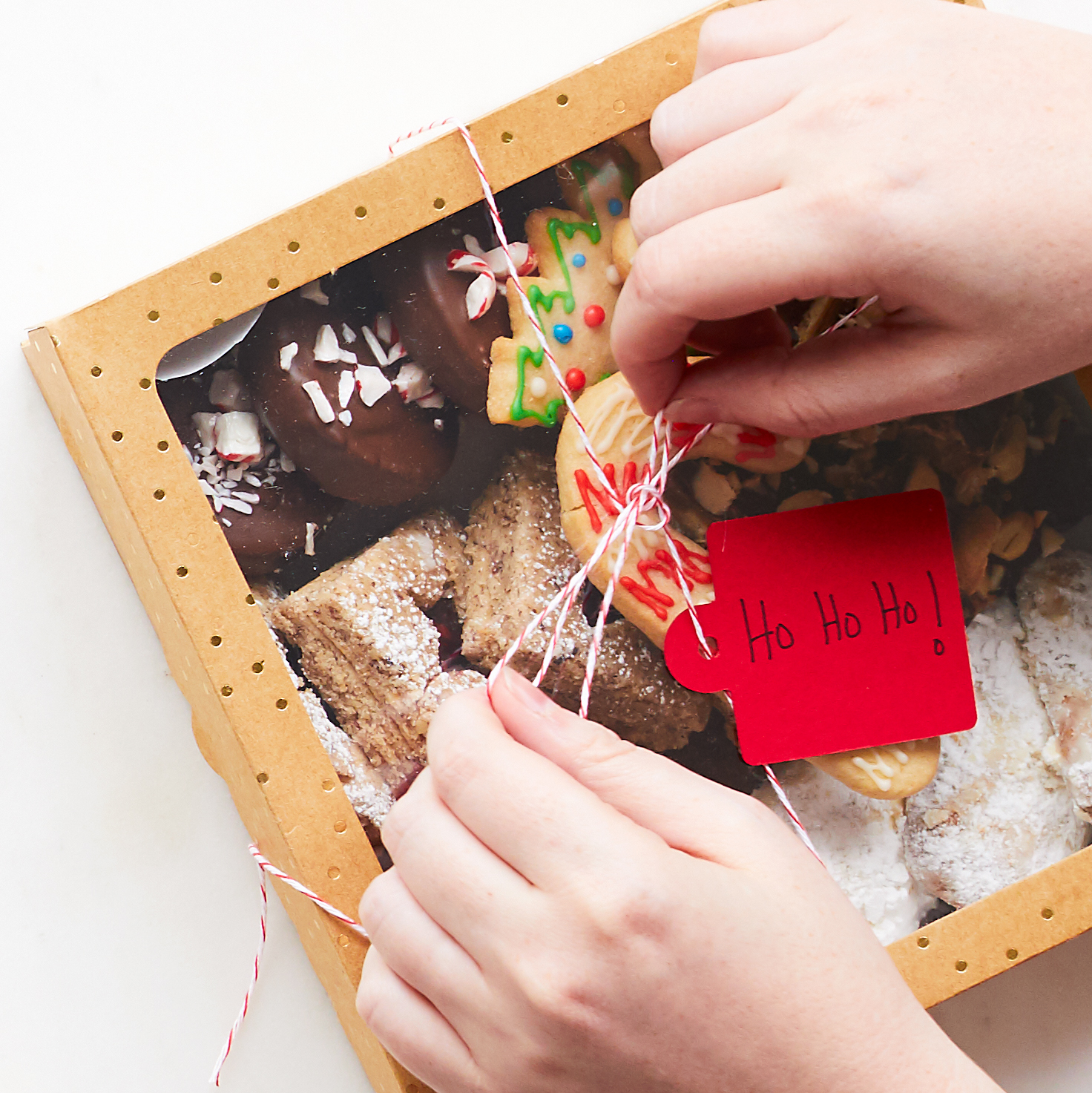 Cookies in a gift box