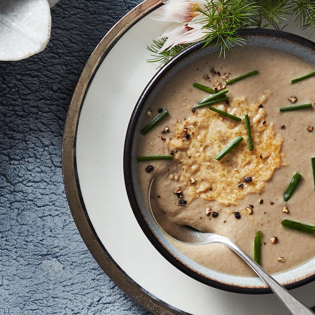mushroom soup with microwave frico