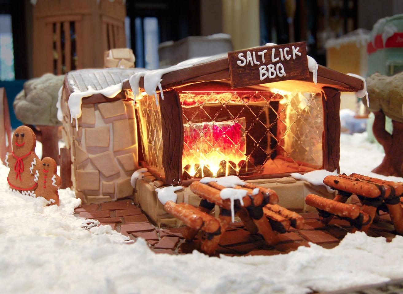 gingerbread village four seasons