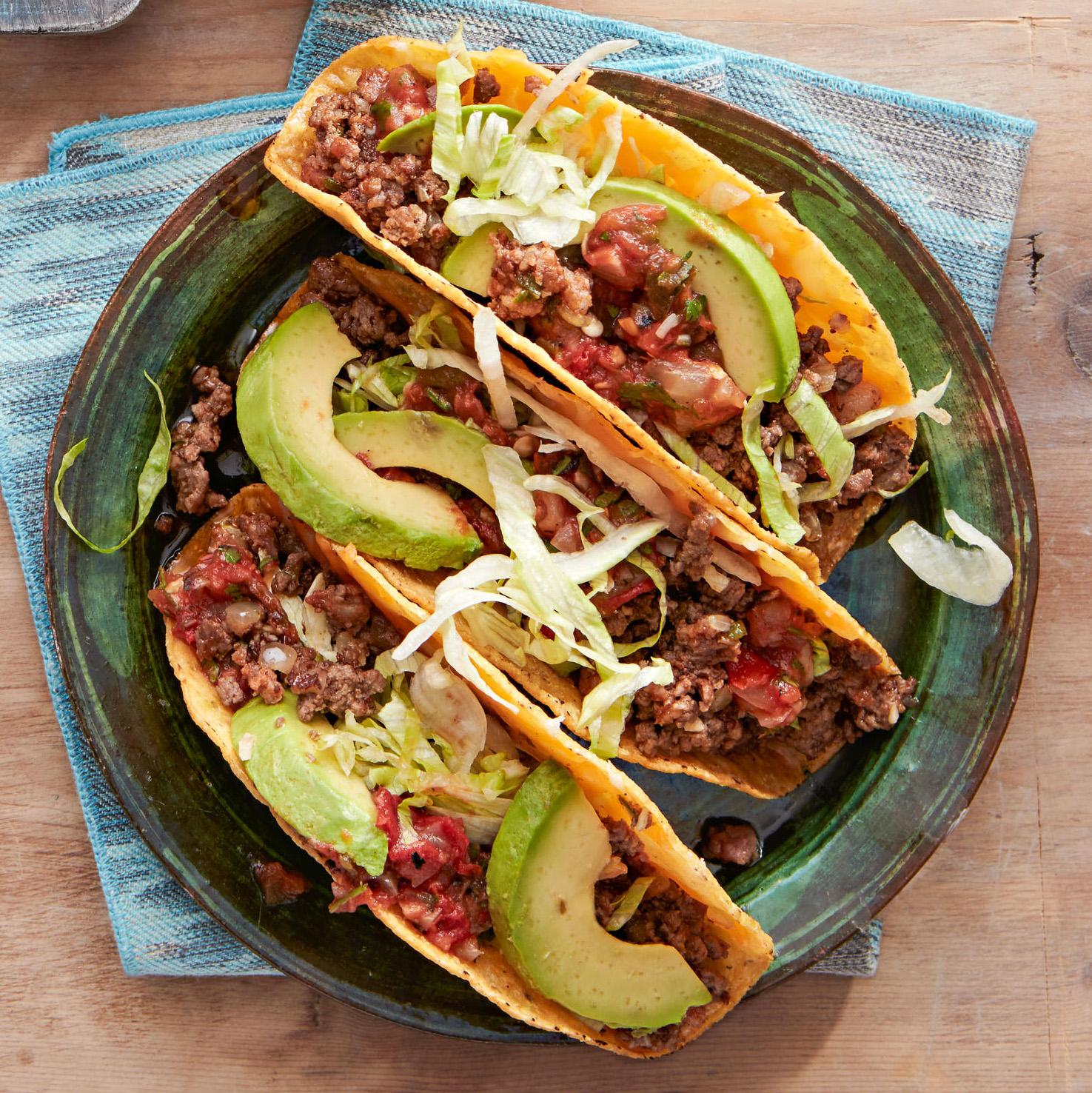 Hard-Shell Tacos with Beef & Chorizo