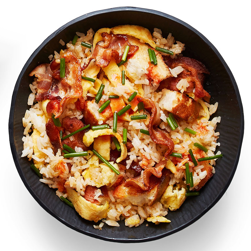 bacon egg fried rice