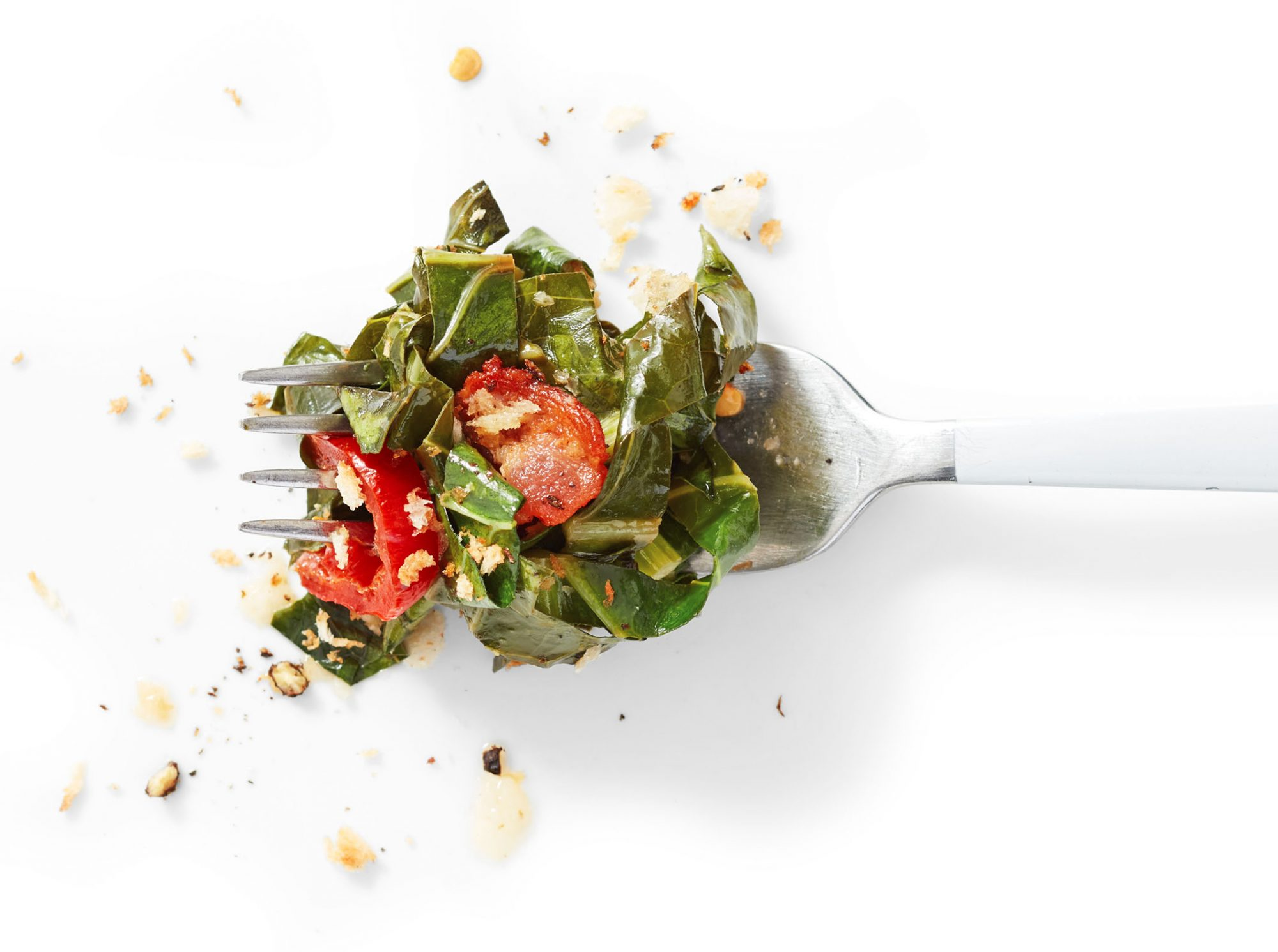 collards with bacon pickled chiles