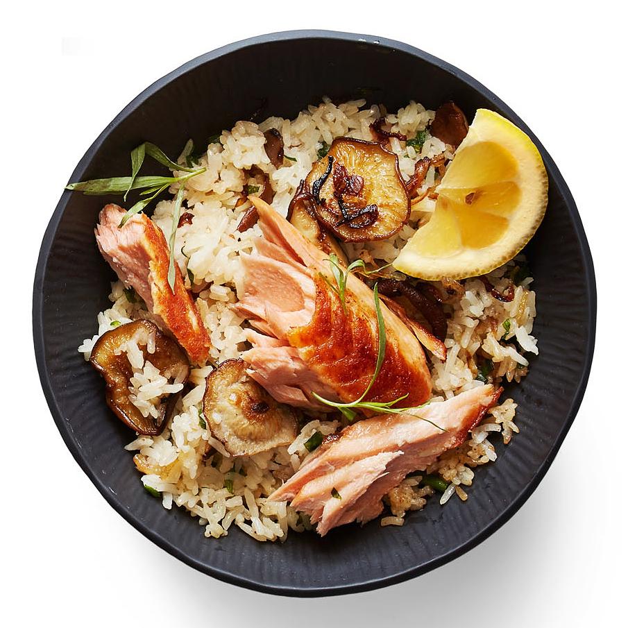 shiitake salmon fried rice