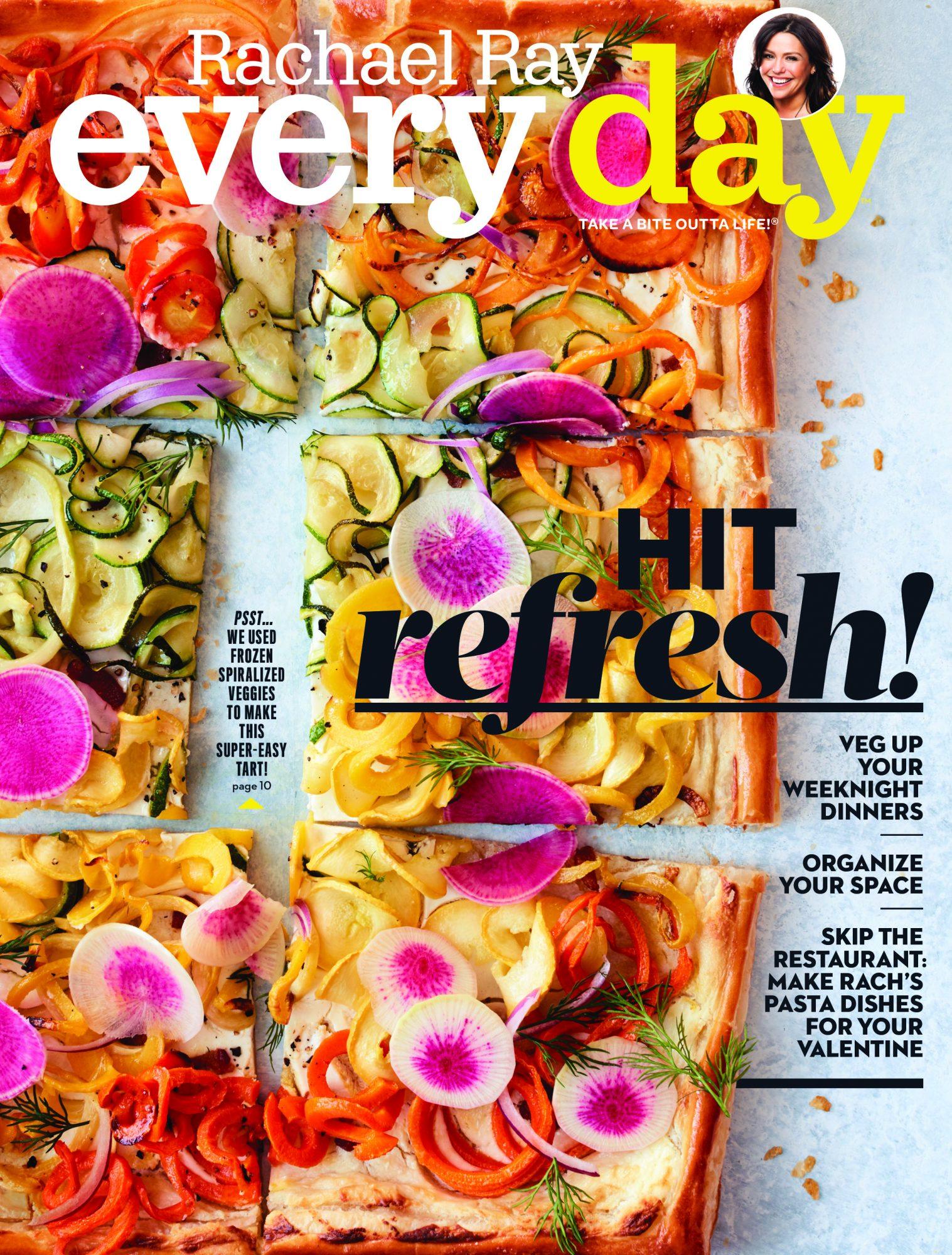 February 2018 cover veggie tart