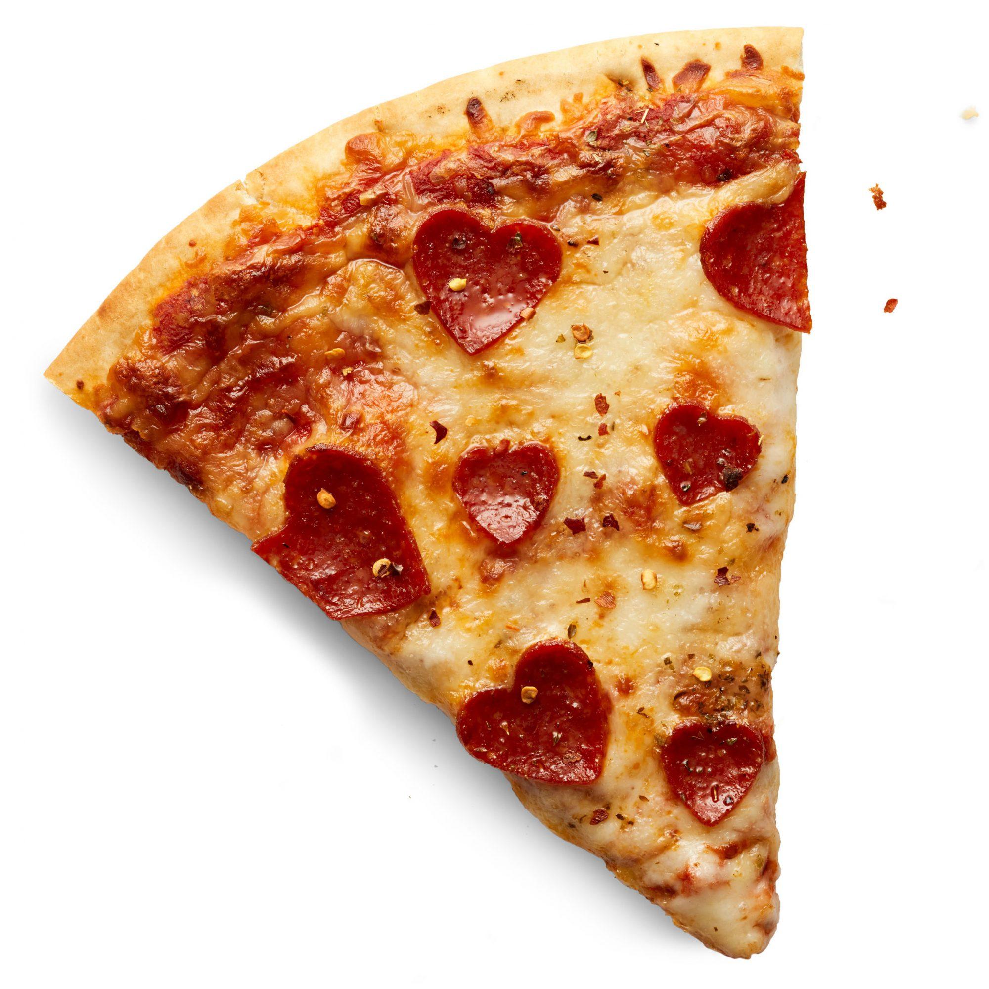 heart pepperoni pizza