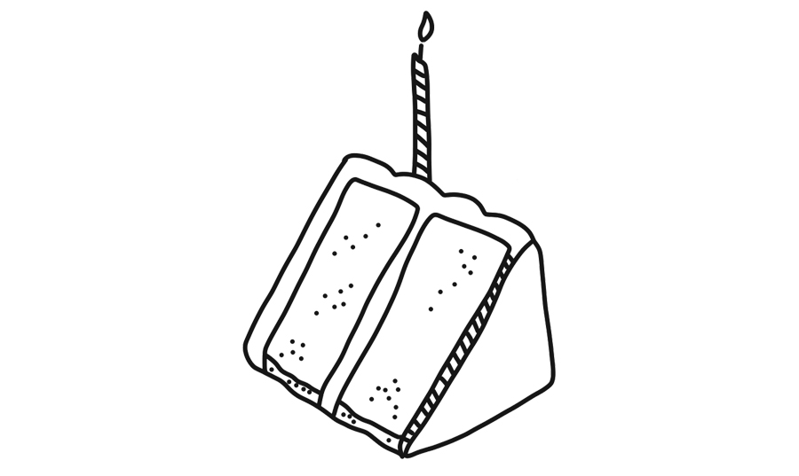 slice of cake illustration