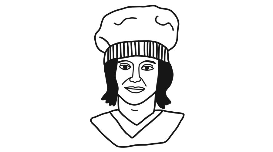monica gellar chef illustration