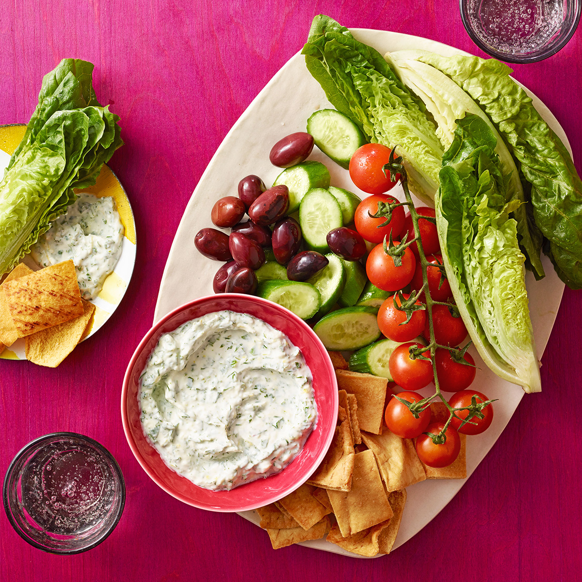 greek salad snack