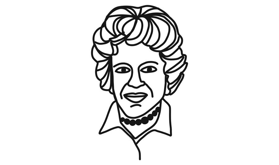 julia child portrait illustration