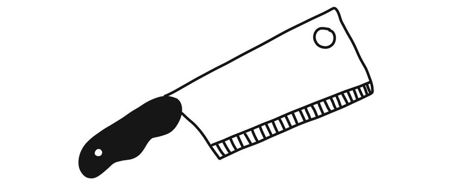 butcher knife illustration