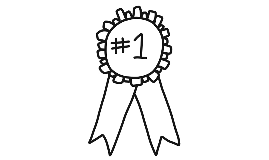 first place ribbon illustration