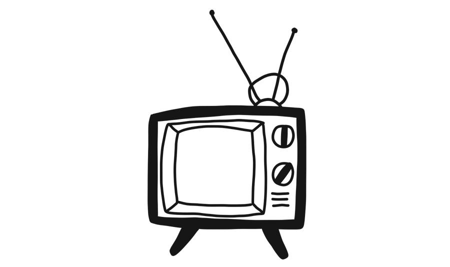 old television set illustration