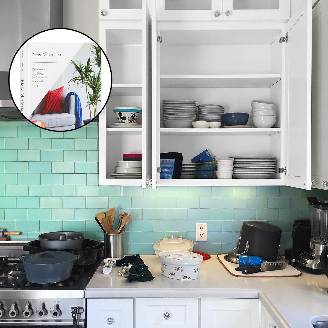 organize kitchen before book