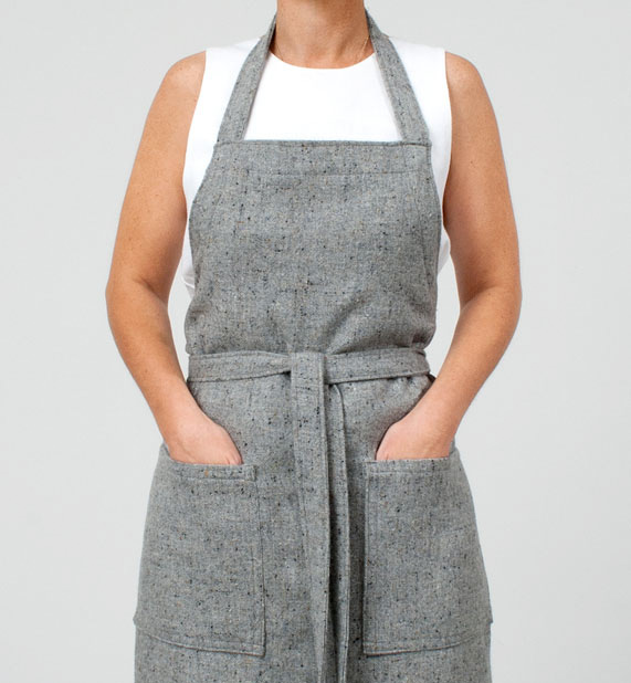 tweed apron