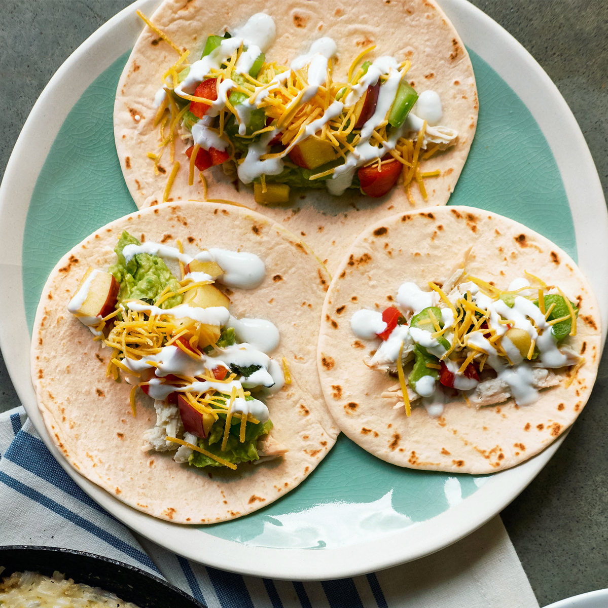 Chicken Tacos with Apple Salsa & Guac
