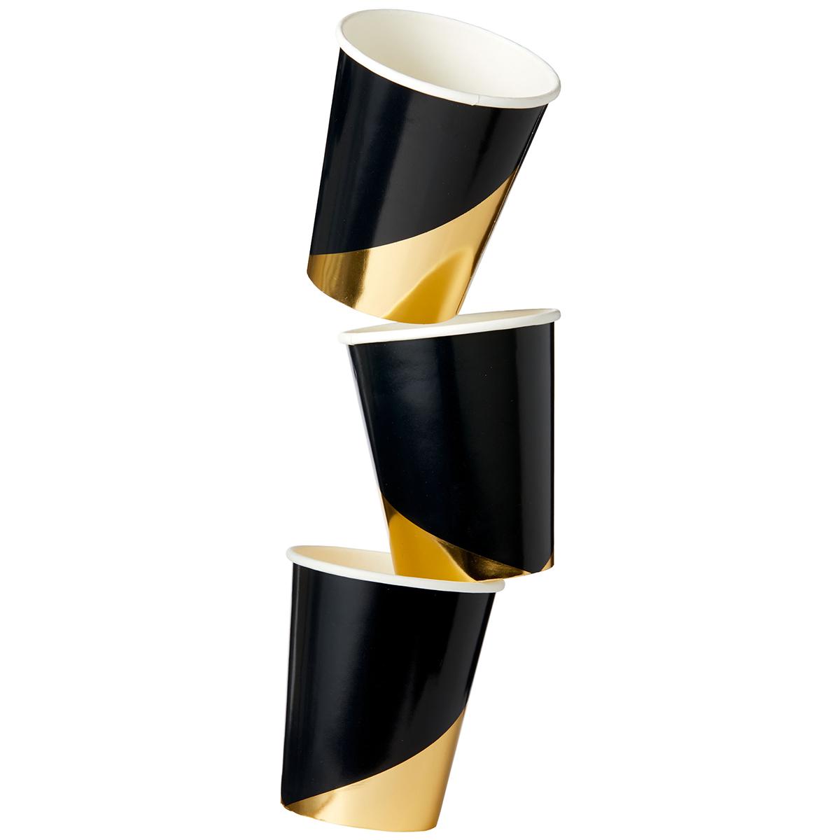 harlow grey noir collection black colorblock paper cups