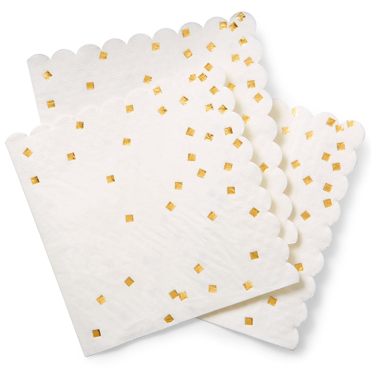 meri meri gold confetti large napkins