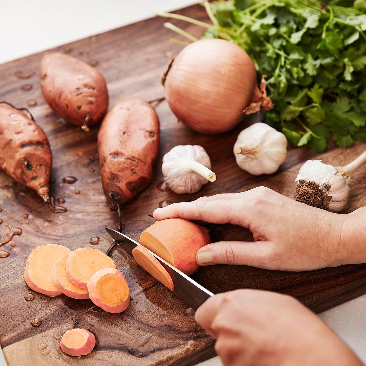 emma chapman cutting board sweet potatoes