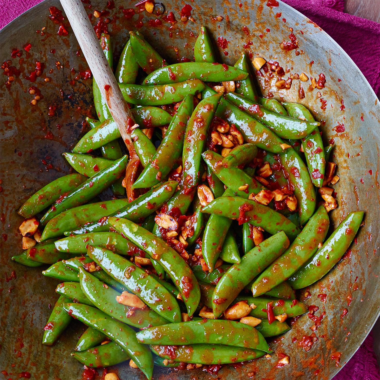 Spicy Sugar Snap Peas & Peanuts
