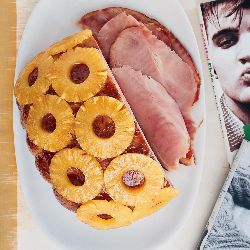 Brown-Sugar-Glazed Ham with Pineapple