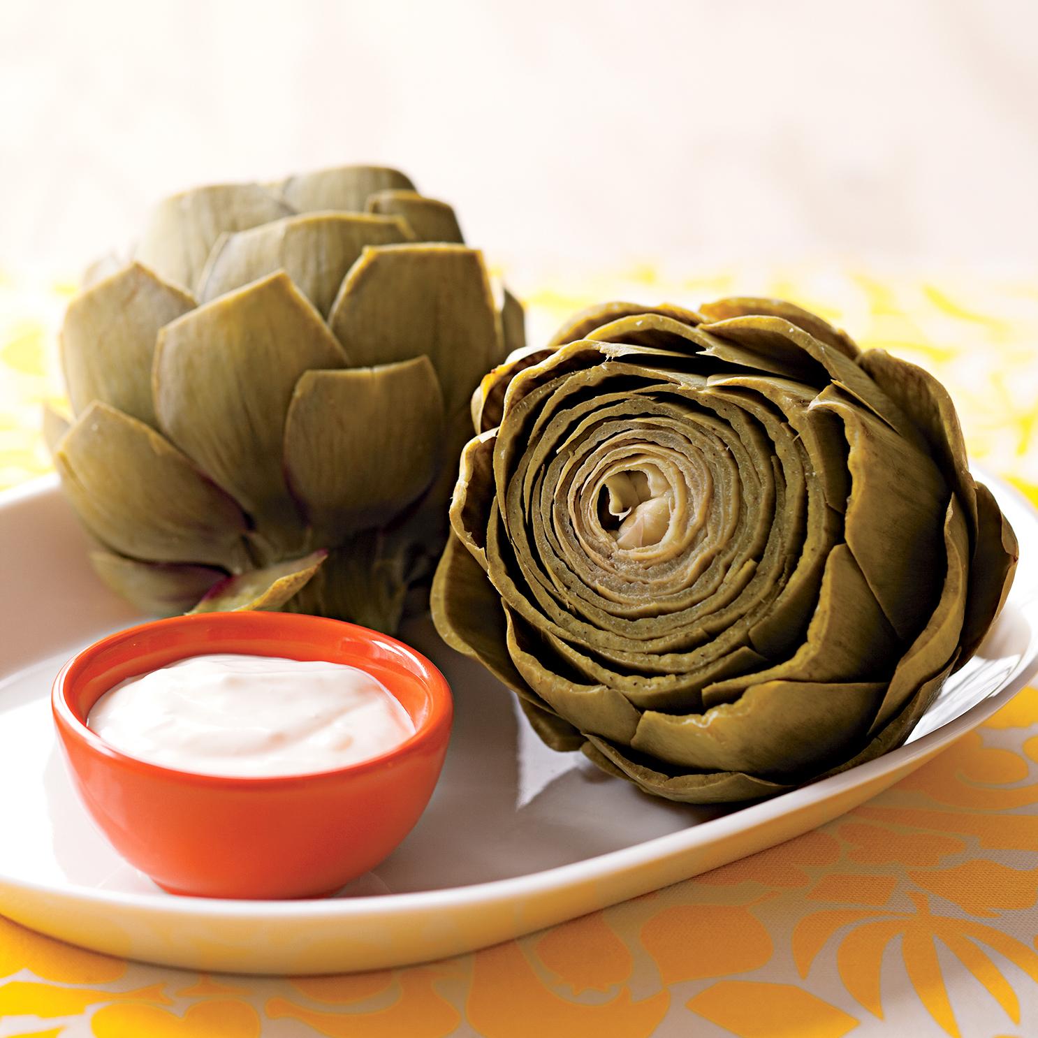 Artichokes with Lemon-Garlic Sauce