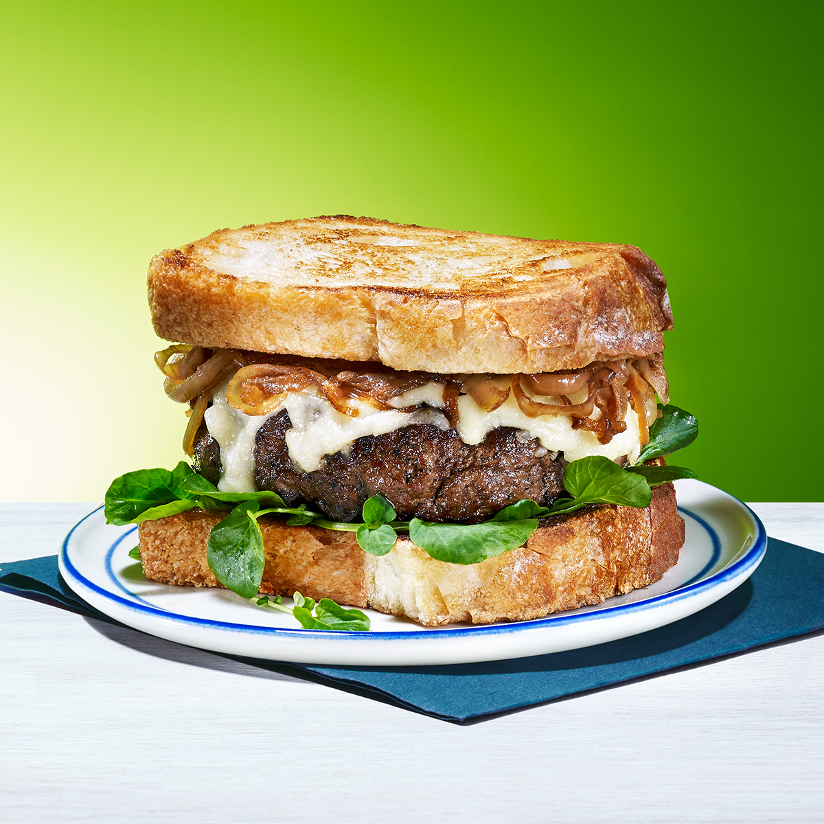 Buttery Burgers & Onions on Toast