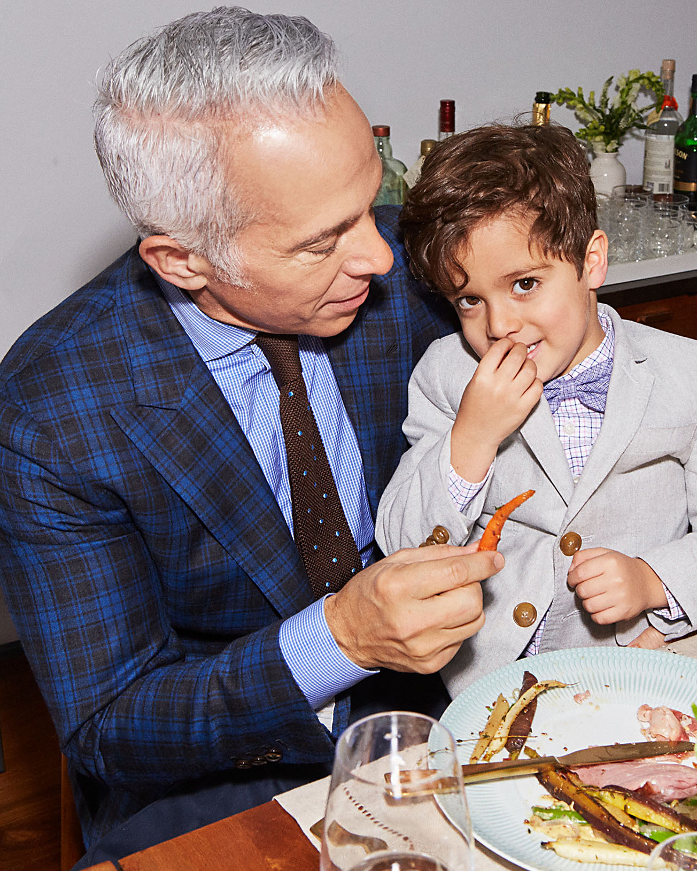 Geoffrey Zakarian with son George