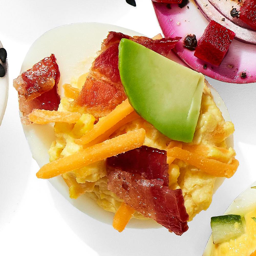 Bacon, Egg & Cheese Deviled Eggs