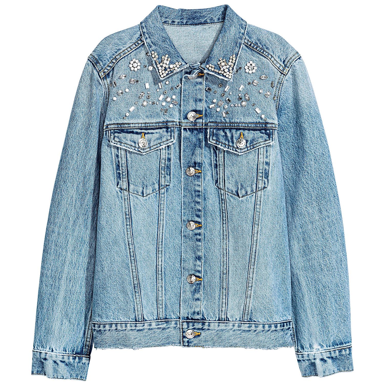H&M's Denim Jacket with Rhinestones